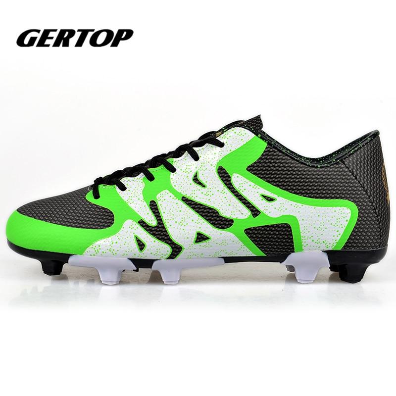 Professional Outdoor Football shoes Training Soccer Shoes Men Women TF Turf Rubber Sole Shoes zapatos de futbol Size 34-44