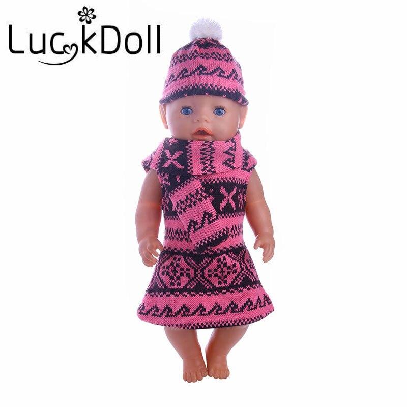 LUCK DOLL new arrivals Fashion sweater set fit 43cm Baby Born zapf, Children best Birthday Gift gucci туалетная вода flora by gucci fraiche 75 ml