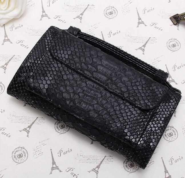 OZUKO новые сумки из натуральной кожи для женщин сумка Роскошные сумки на плечо для женщин дизайнер животных крокодил узор телефон клатч - Цвет: black