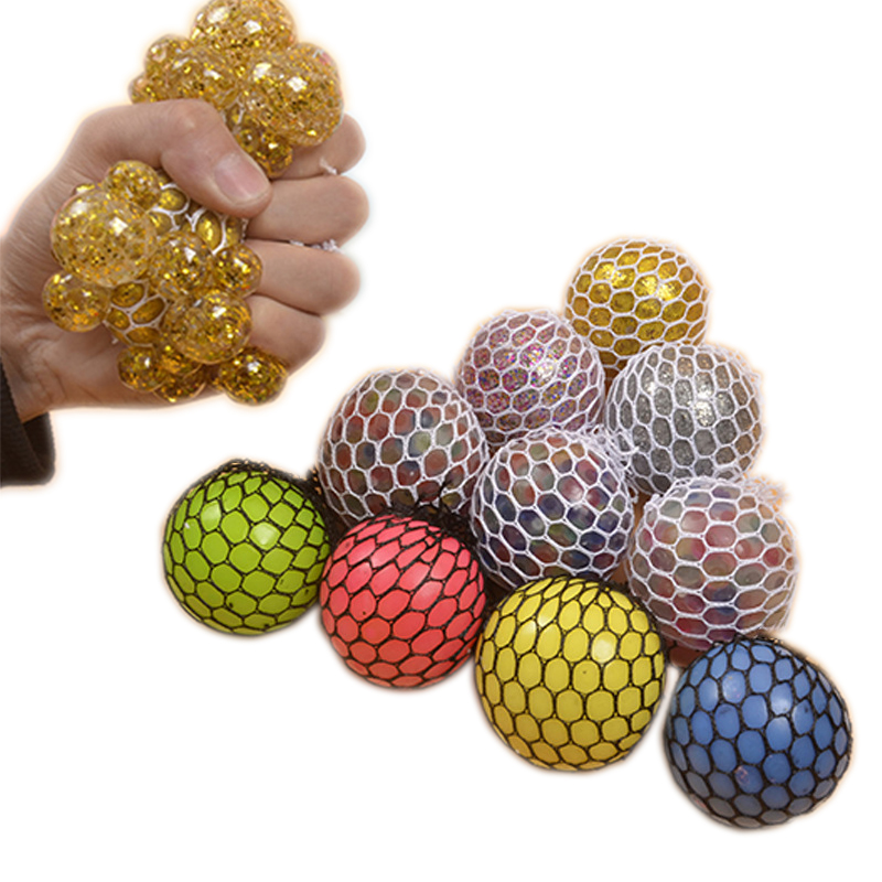 The Grape Ball Black Net Funny Toys Antistress Grape Ball Autism Mood Squeeze Relief Toys For Stress Fun Jokes Creative Gifts