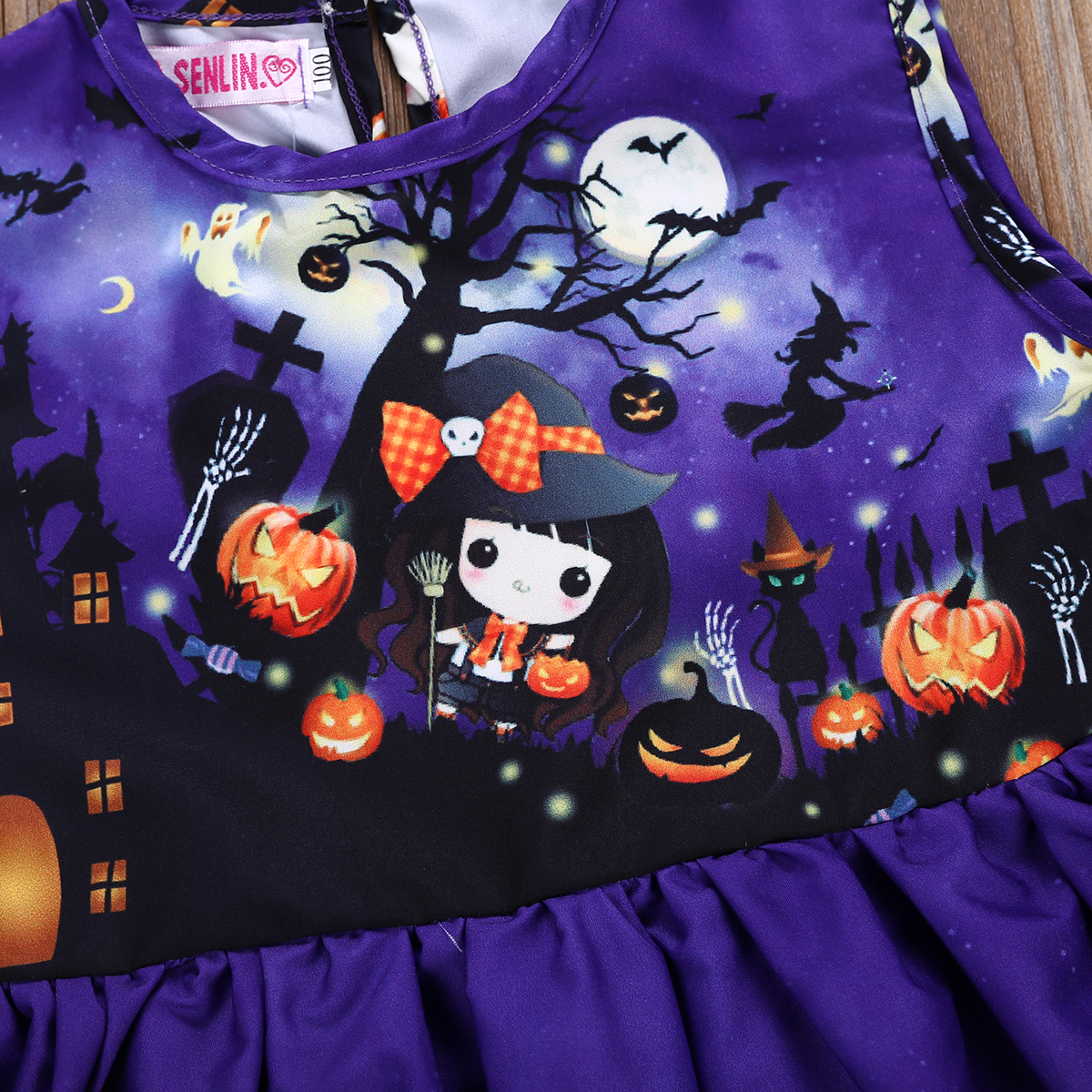 b8660fe2107f 2 6T Halloween costume for kids Toddler Baby Girl Party Cartoon pumpkin  print Princess Dress Vestidos Cute Infantil Costume-in Dresses from Mother  & Kids on ...