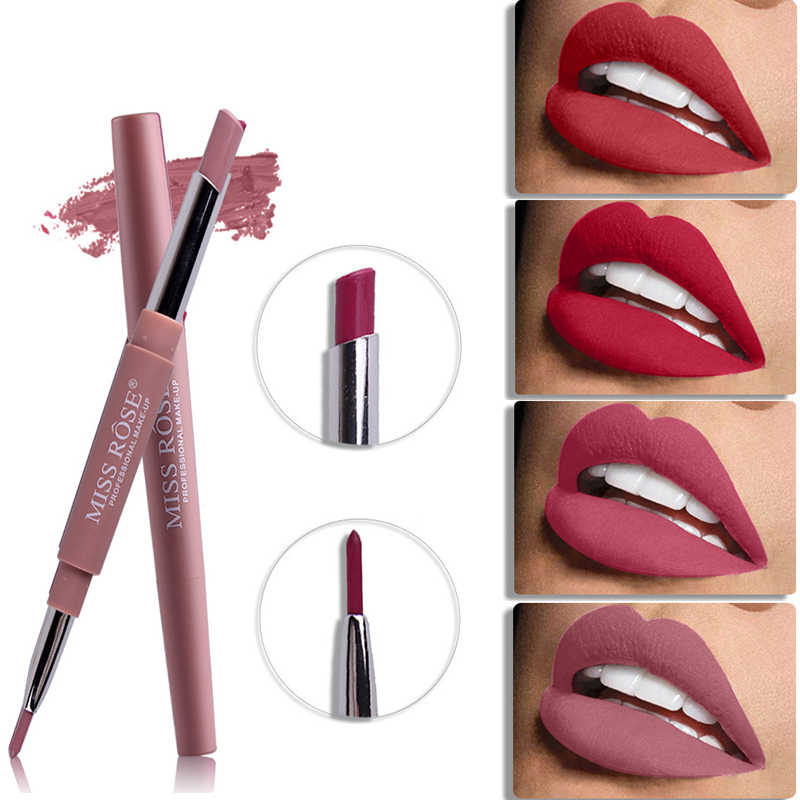 Miss Rose Top Brand Lip Liner Matte Lip Pencil Long-lasting Waterproof Moisturizing Lipsticks Makeup Sexy Lips Contour Cosmetics