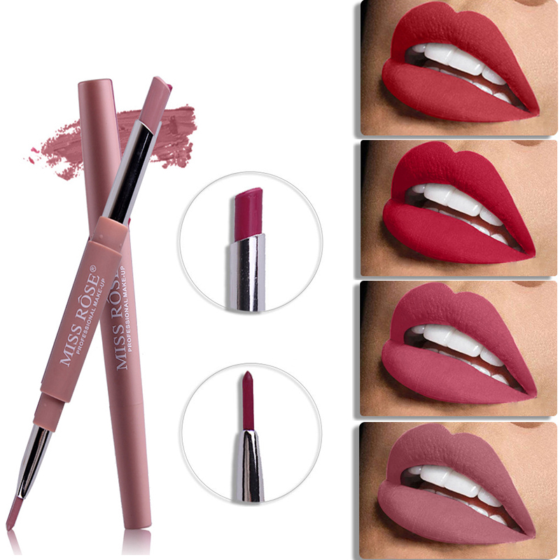Miss Rose Top Brand Lip Liner Matte Lip Pencil Long-lasting Waterproof Moisturizing Lipsticks Makeup Sexy Lips Contour Cosmetics
