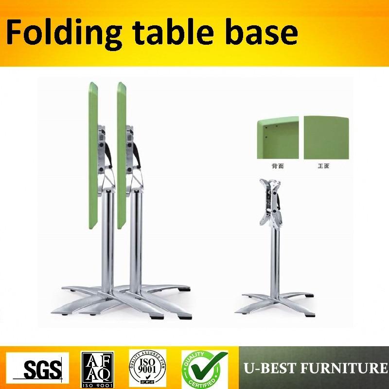 U-BEST Commercial Furniture Stainless Steel Metal Legs Folding Metal Picnic Table Base