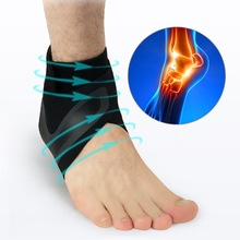 Hot 1PC Black Right Left Foot Ankle Protector Sports Support Elastic Brace Guard Gear