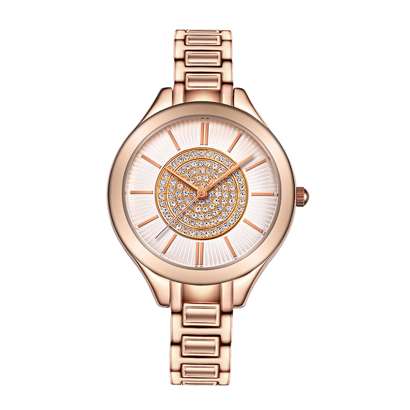 New Rhinestone Woman Quartz Watches Ladies Fashion Watch Top Brand Luxury Steel Bracelet Waterproof Watch Rose Gold Reloj Mujer reloj mujer gold watch women luxury brand new geneva ladies quartz watch gifts for girl stainless steel rhinestone wrist watches
