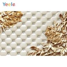 Yeele Wedding Photocall Bedhead Gold Flower diamond Photography Backdrops Personalized Photographic Backgrounds For Photo Studio