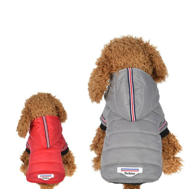 Cane di animale domestico di Imbottiture Giubbotti Caldo A Prova di Vento Cappot