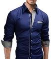 Nueva marca Para Hombre Formales Camisas del Negocio Camisas Vestidos de Manga Larga Delgada Ocasional Camisa Masculina Camisas Casuales Asiático