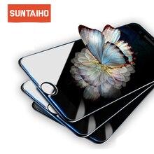 Suntaiho 強化ガラス iphone 11 プロマックス用 iphone XR Xs × 11Pro 保護ガラスフィルム 7 8 66s プラス