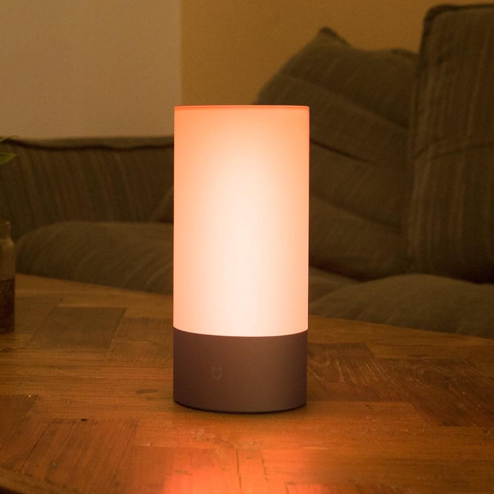 Xiaomi Yeelight lampes de nuit intelligentes lit intérieur lampe de chevet 16 millions de lumières rvb contrôle tactile Bluetooth pour Mijia APP