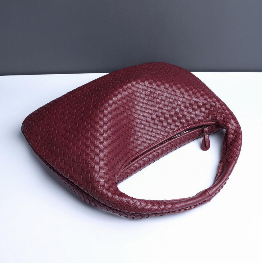 0580760a1 Mão tecido Sacos Hobos Bolsas De Luxo Saco de Ombro Das Mulheres de Grande  Capacidade de Alta Qualidade Sac a Principal Bolsa de Couro Feminina 2  tamanho em ...