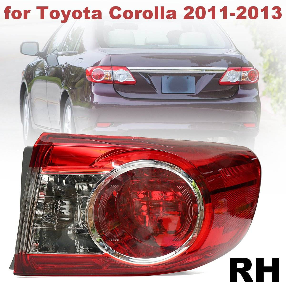 #TO2804111 #81560-02580 PMMA Red Rear Right Side Tail Light Brake Lamp for Toyota Corolla 2011 2012 2013 free shipping 2pc hexagon pattern abstract geometric body rear tail side graphic vinyl for toyota hilux vigo 2011 decals