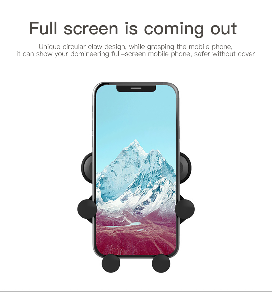 !ACCEZZ Gravity Car Phone Holder Air Vent Mount Clip For iPhone XS Universal Mobile Phone Stand Support GPS in Car Auto Bracket (8)