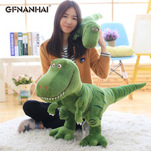 1pc 40-100cm cartoon dinosaur plush toy stuffed soft cute Tyrannosaurus animal doll home decor for kids children birthday gift(China)