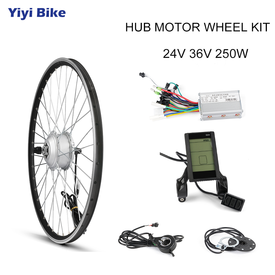 Ebike E-bike Conversion Kit Rear Drive 500W-1000W Hub Electric Bike Motor Kit