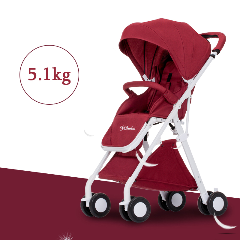 baby stroller can be sitting can be folded small small portable portable aircraft high landscape hand umbrella car baby stroller high landscape can be sitting can be folded folding winter and summer children s carts light baby carriages