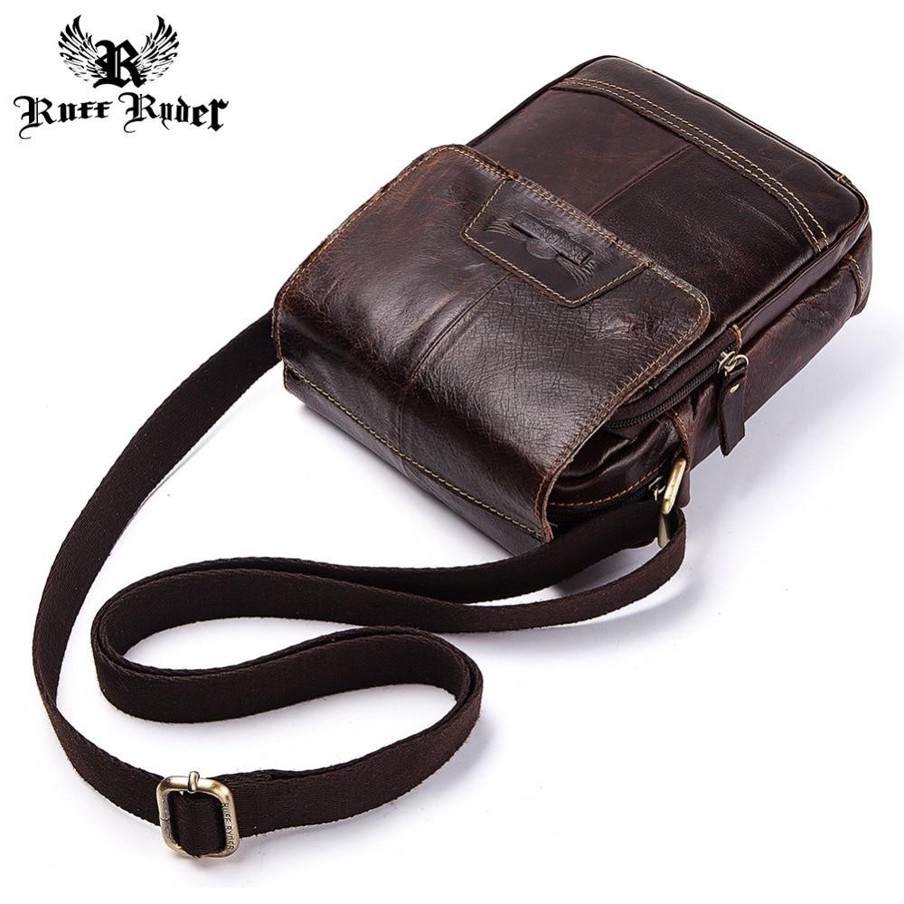 5929e972e87e ... Винтаж 2019 Лидер продаж клапаном · Ерш RYDER Для мужчин сумка  натуральная сумка из корочьей кожи через плечо сумка небольшая мужская сумка