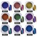 1g Top-Grade Chameleon Glitter Powder Nail Polish Manicure Nail Art Chrome Pigment Glitters Black Base Color Needed