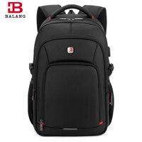 BaLang Laptop Backpack For 15 6 Inch Charging USB Port Computer Backpacks Male Waterproof Man Busines