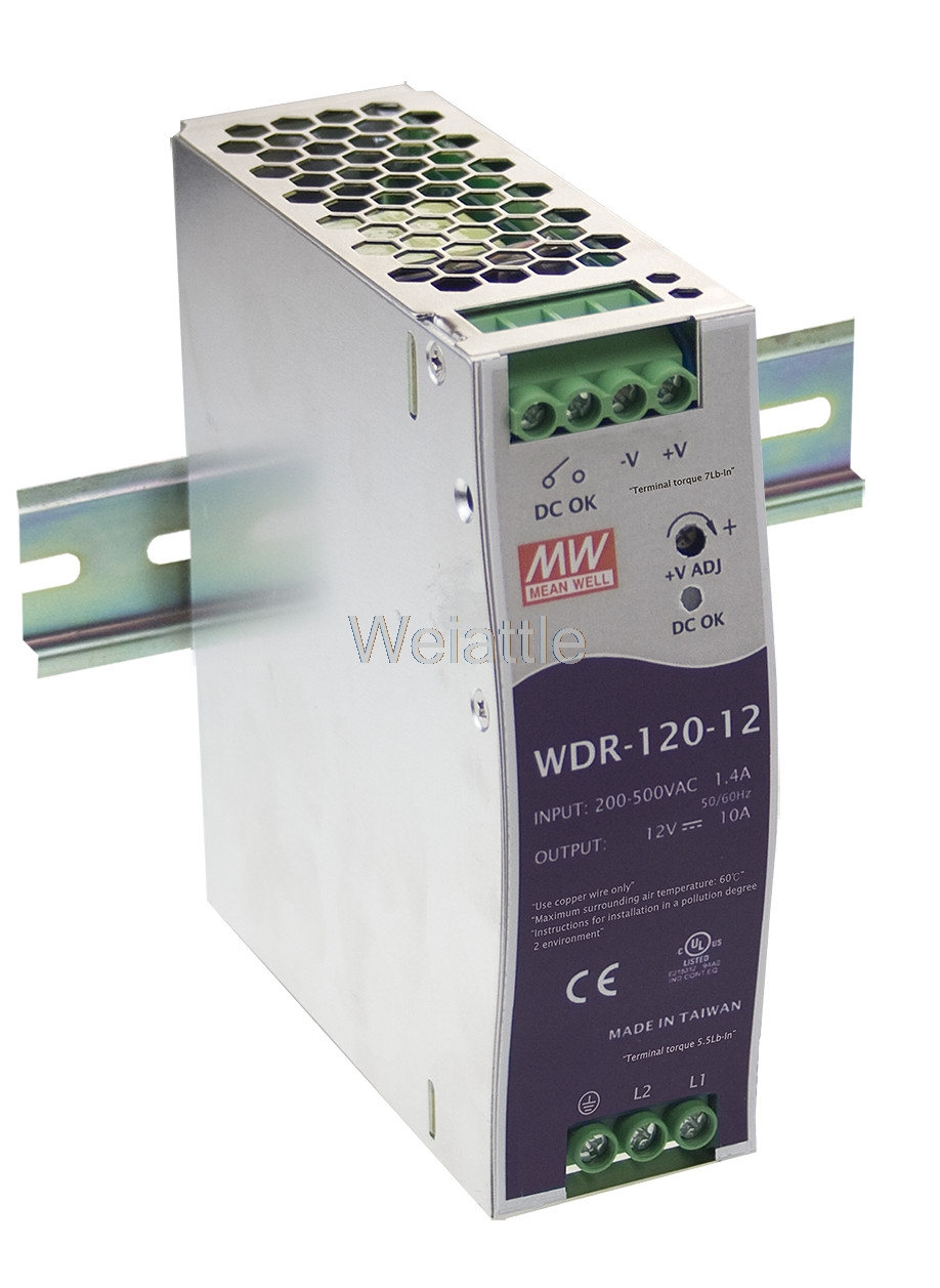 цена на [Cheneng]MEAN WELL original WDR-120-12 12V 10A meanwell WDR-120 12V 120W Single Output Industrial DIN RAIL Power Supply