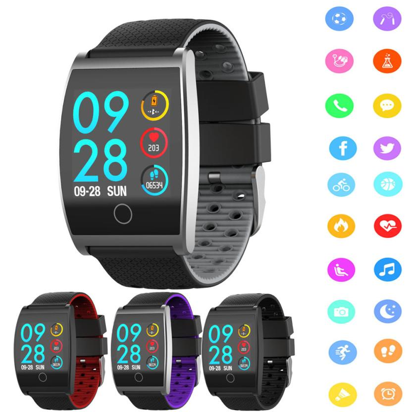Smart Accessories Wristbands QS05 Smart Color Screen Calorie Exercise Heart Rate Pedometer Smart Watch Wearable Devices Aug15 2pcs2017 gw01 round screen smart watche andrews ios bluetooth touch stainless steel watch wearable heart rate during exercise
