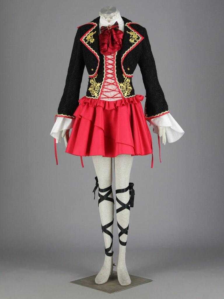 Anime famille précoce-note miroir avec 2 génération-ling dragon jardin Goethe vent Cosplay Costume robe