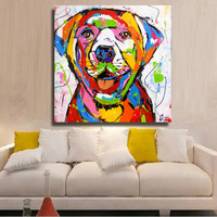 HDARTISAN Wall Printed Golden Retriever Dog Oil Painting Home Decorative Wall Art Picture For Bedroom Living