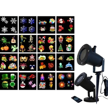 Weihnachten Dekoration Projektor Santa Klausel Geschenke Garten Licht Schneeflocke Urlaub Lichter Outdoor Indoor LED Wasserdichte Bühne Lampe-in LED-Gartenlampen aus Licht & Beleuchtung bei