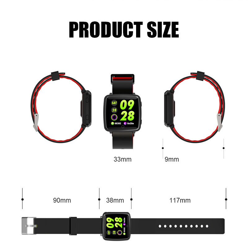 VERYFiTEK Smartwatch Blood Pressure Heart Rate Monitor Men Women Sport Watch Pedometer Stopwatch Smart Watch for IOS Android (21)
