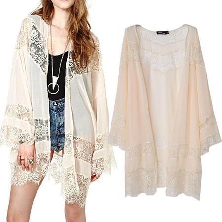 Formal Blouse Plus Size Long Women Coat Poncho Kimono Cardigan ...