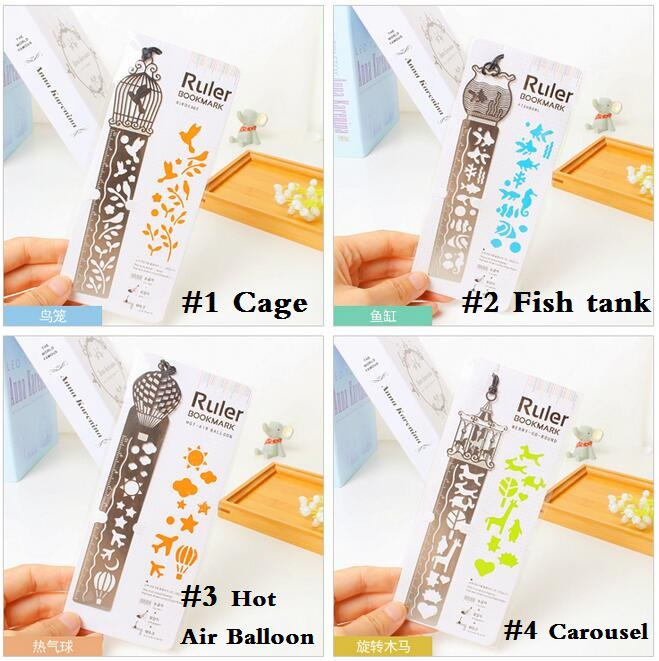 24pcs/lot Korea Zakka Vintage Hollow style stainless steel ruler scale 10cm bookmark DIY tools students' gift prize Stationery