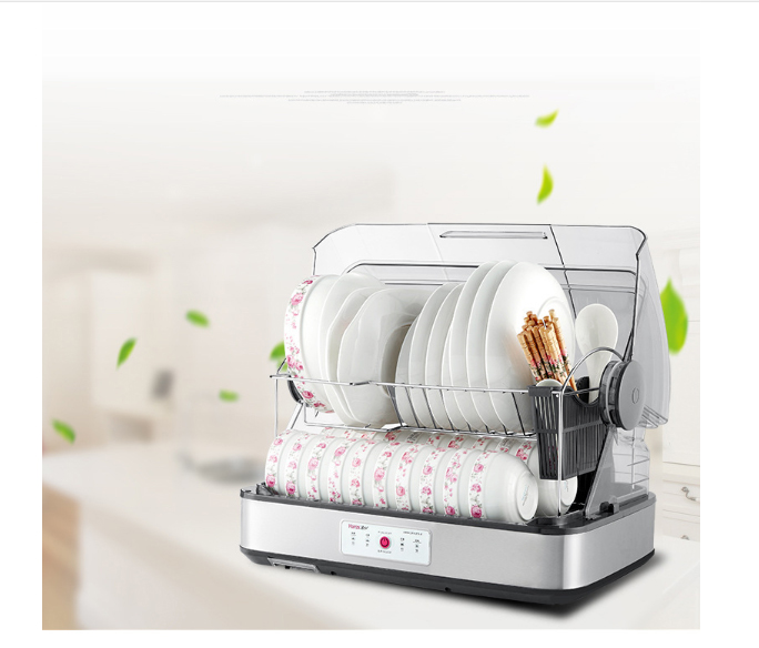 46L Tableware Disinfection Cabinet Clean Tableware Bake Dishwasher Home Vertical Mini Sterilization Dry Leachate Storage