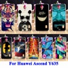 AKABEILA Soft TPU Hard PC Phone Covers For Huawei Ascend Y635 CL00 Y635-CL00 Cases Skin Cartoon For Huawei Y635 Hood