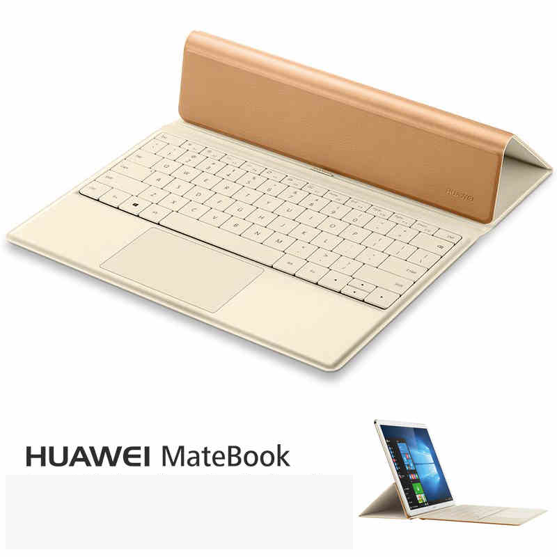 2016 Fashion PU Backlight Docking Keyboard case for 12 inch Huawei MateBook  2 in 1 Tablet PC,for Huawei MateBook keyboard case huawei matebook hz w19 256gb gold dock