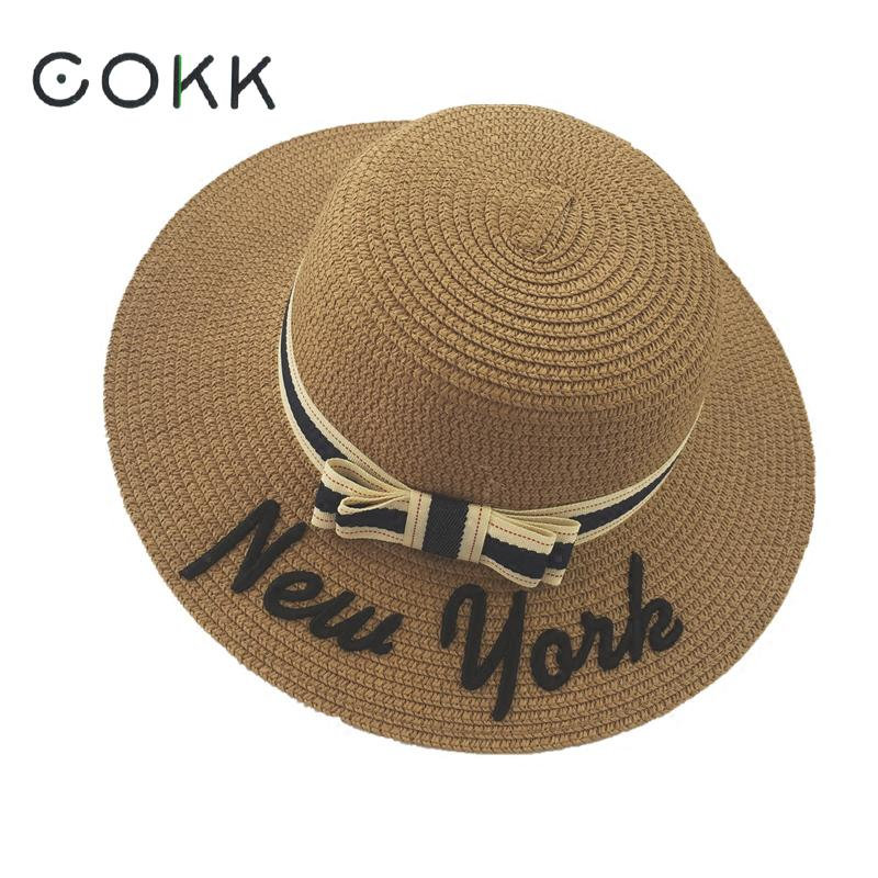 27abe41705d 2017 New Fashion hat summer hats for women sun cap Casual Bowknot visors Panama  beach hat chapeu feminino ...