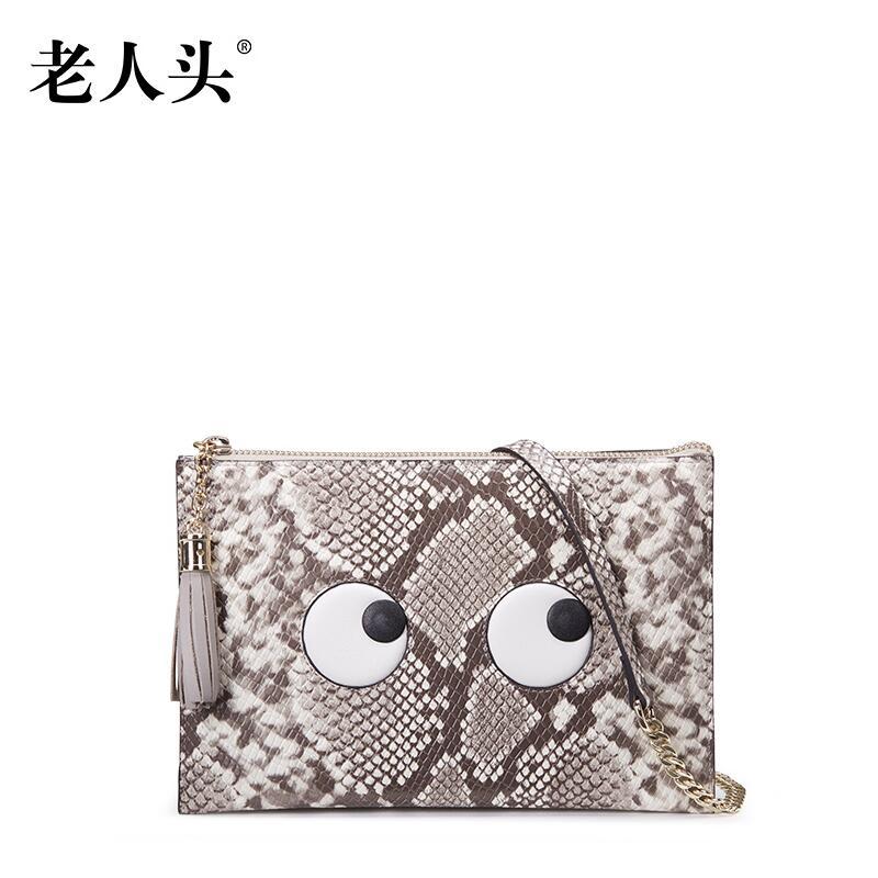 2016 laorentou high end luxury fashion leather tassel chain bag sweet cartoon beauty bag brand100 high