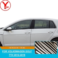 YCSUNZ exterior side window trim strips Stainless Steel accessories For Volkswagen golf 7 mk7 r line 2012 2016 2017 2018