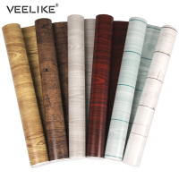 PVC Waterproof Wood Grain Contact Paper Vinyl Self Adhesive Brick Wallpaper Bedroom Cabinet Door Desktop Home Decor Wall Sticker