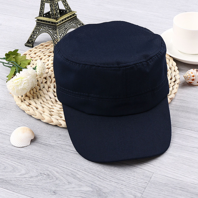 45b59d584eb 1PC Classic Solid Plain Vintage Army Hat Unisex Women Men Cadet Patrol Cap  Adjustable Baseball Caps