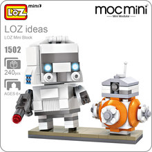 LOZ Mini Blocks Robot Action Figure Soldier Bricks Building Blocks Children Model Cute Intellectual Toys Assembly Model DIY 1502
