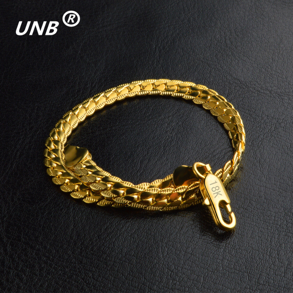 Silver Goldcolor Bracelet Men Women Jewelry Gift Trendy Chunky Gold Chain  Hip Hop Vintage Snake Bracelets Pulseras Mujer Sets