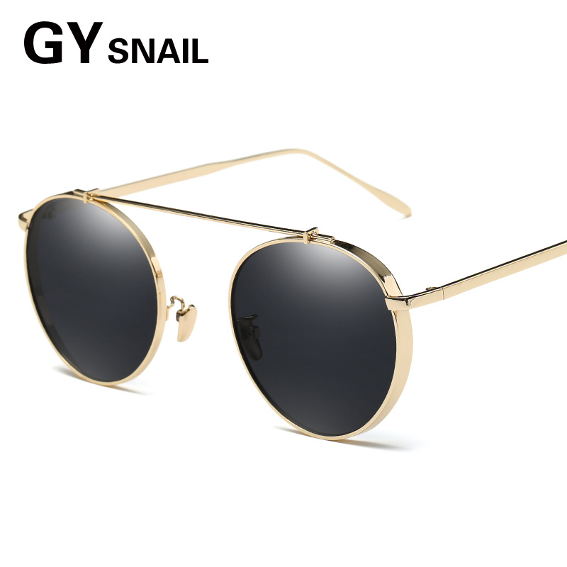 GY steampunk women sunglasses Brand Designer Classic Round Sunglasses Men Vintage Retro Glasses Women Eyewear oculos mirror uv40