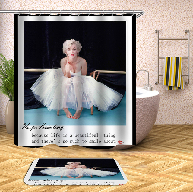 Marilyn Monroe Shower Curtains With 12