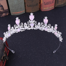 Crown hair jewelry headdress and crown luxury rhinestone wedding accessories Bridal bridal