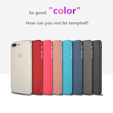 For iPhone case  iPhone7 8 plus Case With Protector shell Soft PP Phone Back Cover Coque compact frosted granule Hard