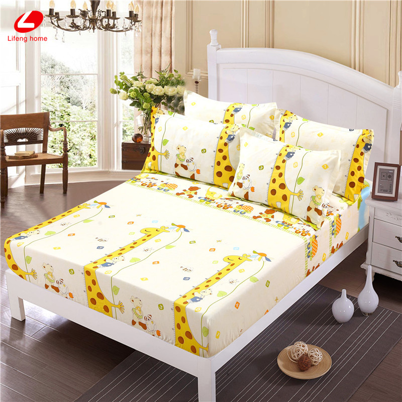 Home textile bed sheet sheet flower mattress cover printing bed sheet elastic rubber bedclothes 180*200cm summer bedspread band 44