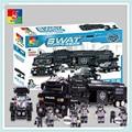 WOMA Военный 1492 шт. SWAT Полиция Модель Строительные Блоки Сборки Строительный Блок Образование Кирпичи Подарок Блок