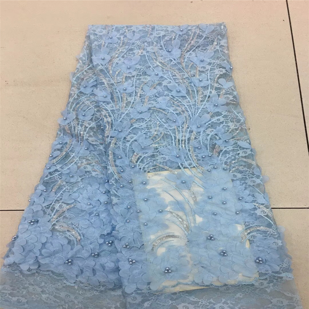 Us 75 66 22 Off Terbaru Gaun Pesta Payet Bordir Desain 3d Bunga French Tulle Renda Kain X391 04 In Tali Sepatu From Rumah Taman On Aliexpress Com