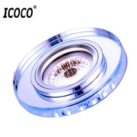 ICOCO LED COB 3W Side Lighting Crystal Downlight Entrance Balcony Living Room Ceiling Lamp Spotlights Home